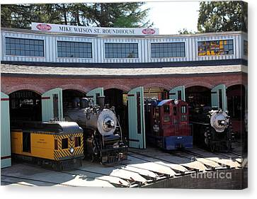Mike Watson St. Turnhouse - Traintown Sonoma California - 5d19249 Canvas Print by Wingsdomain Art and Photography