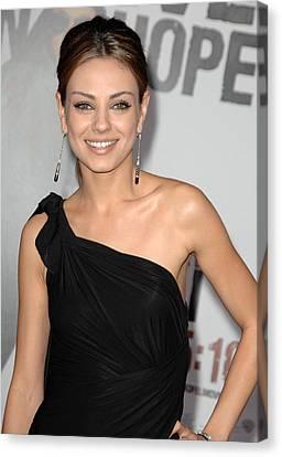 Mila Kunis Wearing Neil Lane Earrings Canvas Print by Everett