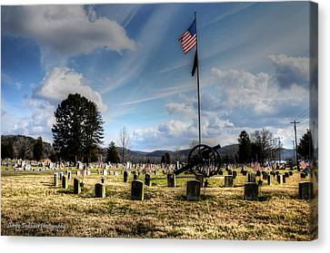 Military Honors Canvas Print by Shirley Tinkham