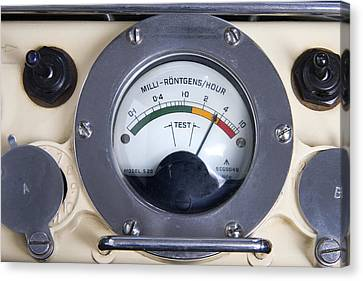 Military Radiation Meter Canvas Print by Sheila Terry