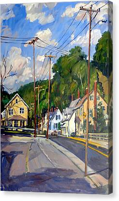 Mill Houses North Adams Canvas Print by Thor Wickstrom