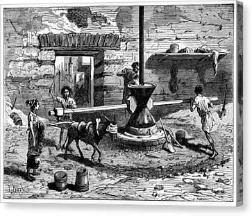 Milling Flour, Historical Artwork Canvas Print by Cci Archives
