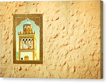 Minaret Through A Window Canvas Print by Tom Gowanlock