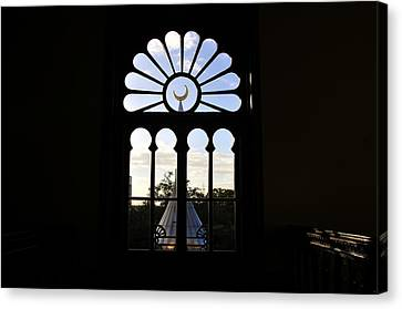 Minaret Through Window Canvas Print by David Lee Thompson
