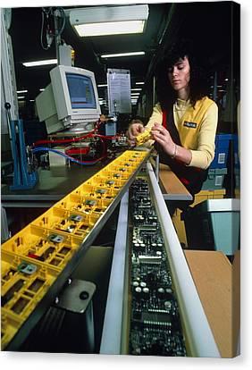 Mindstorm Programmable Lego Brick Manufacture Canvas Print by Volker Steger