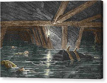 Mining Disaster, 19th Century Canvas Print by Sheila Terry