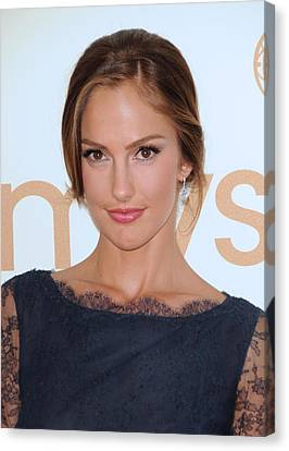 Minka Kelly At Arrivals For The 63rd Canvas Print by Everett