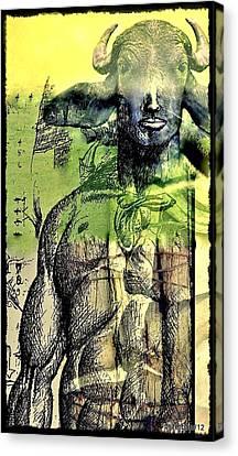 Minotaurus Canvas Print by Paulo Zerbato