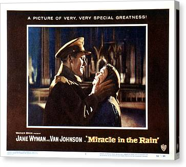 Miracle In The Rain, Van Johnson, Jane Canvas Print by Everett