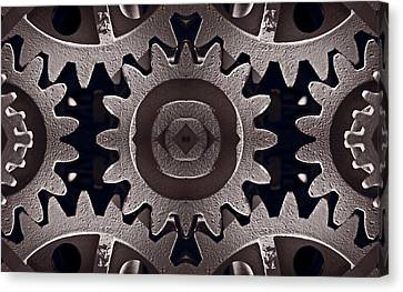 Mirror Gears Canvas Print by Steve Gadomski