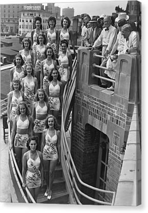 Miss America Contestants, In Two-piece Canvas Print by Everett