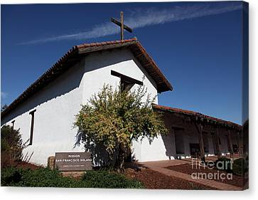 Mission Francisco Solano - Downtown Sonoma California - 5d19298 Canvas Print by Wingsdomain Art and Photography