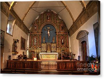 Mission San Carlos Borromeo De Carmelo  11 Canvas Print by Bob Christopher