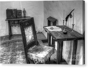 Mission San Diego De Alcala Writing Table Canvas Print by Bob Christopher