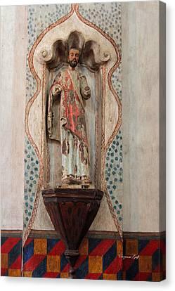 Mission San Xavier Del Bac - Interior Sculpture Canvas Print by Suzanne Gaff