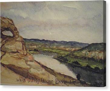 Missouri Breaks Canvas Print by Les Herman