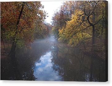 Mist Along The Wissahickon Canvas Print by Bill Cannon