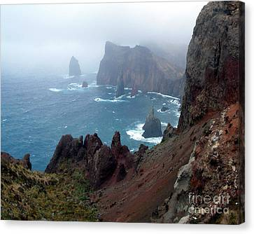 Misty Cliffs Canvas Print by John Chatterley