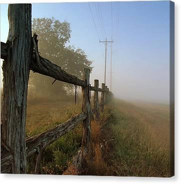 Misty Morning Canvas Print by Cindy Rubin