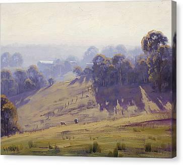 Misty Morning Cottles Bridge Canvas Print by Graham Gercken