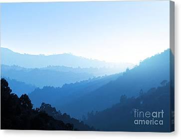 Misty Valley Canvas Print by Carlos Caetano