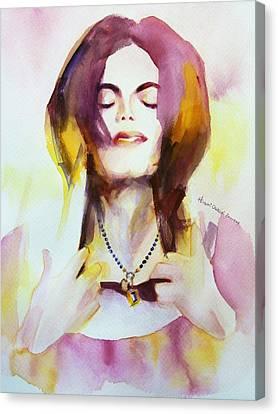 Mj Pendant Canvas Print by Hitomi Osanai