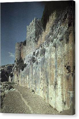 Moat Of Saladins Castle, A Byzantine Canvas Print by Everett