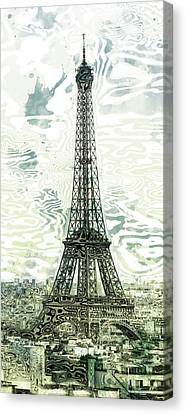Modern-art Eiffel Tower 12 Canvas Print by Melanie Viola