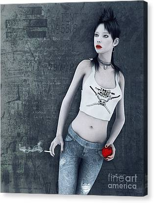 Modern Snow White Canvas Print by Jutta Maria Pusl
