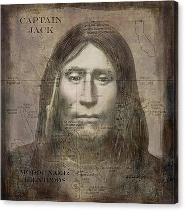 Modoc Indian Captain Jack Canvas Print by Cindy Wright
