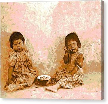 Moki Melon Eaters Canvas Print by Padre Art