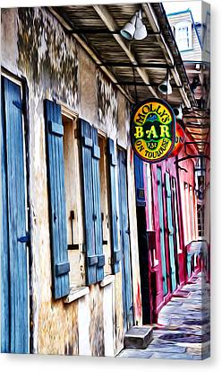 Molly's Bar On Toulouse Canvas Print by Bill Cannon
