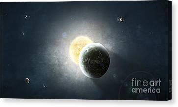 Moments Before A Total Eclipse Canvas Print by Tomasz Dabrowski