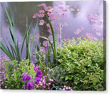 Monet Garden Giverny France Canvas Print by Chitra Ramanathan
