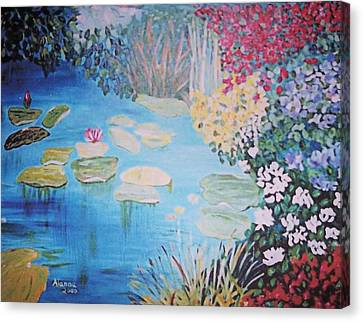 Monet Style By Alanna Canvas Print by Alanna Hug-McAnnally