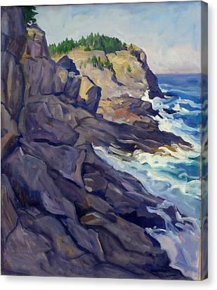 Monhegan Coast Canvas Print by Thor Wickstrom