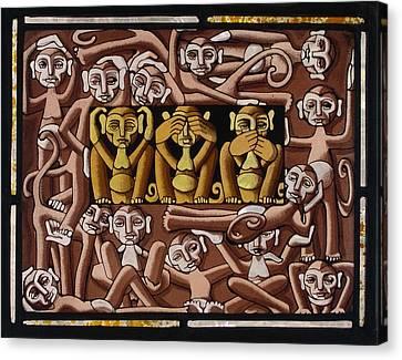 Monkeys Canvas Print by Victoria Millard