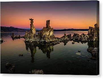 Mono Lake Tufa At Sunrise Canvas Print by Scott McGuire