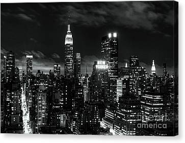 Monochrome City Canvas Print by Andrew Paranavitana