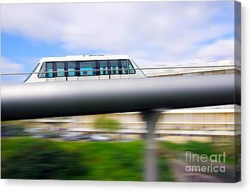 Monorail Carriage Canvas Print by Carlos Caetano