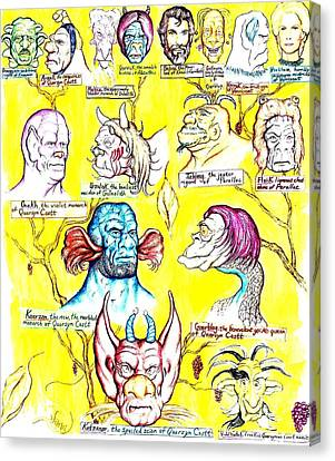 Monster Genealogy Canvas Print by Jamie Jonas