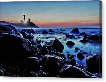 Montauk Light Canvas Print by Rick Berk