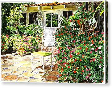 Monterey Guest House Canvas Print by David Lloyd Glover