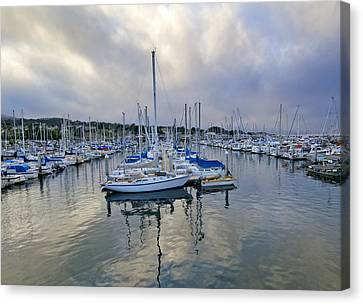 Monterey Harbor Marina - California Canvas Print by Brendan Reals