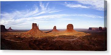 Monument Valley Panorama Canvas Print by Andrew Soundarajan