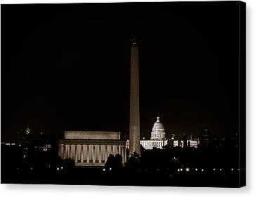 Monuments In Black And White Canvas Print by David Hahn