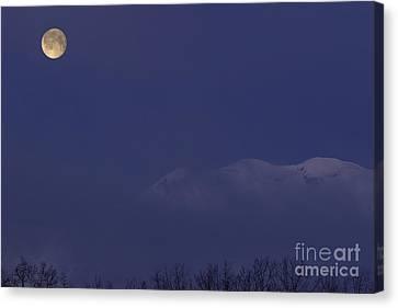 Moon At Dawn Canvas Print by Yuichi Takasaka