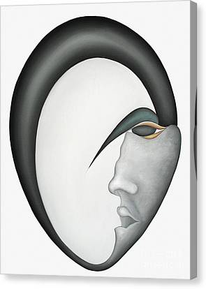 Moon Brother Canvas Print by Joanna Pregon