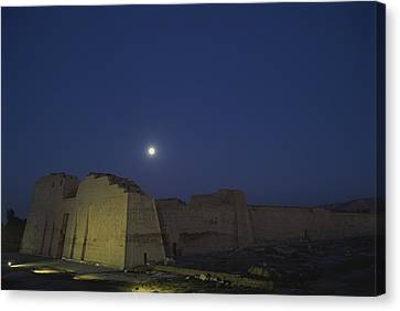 Moon Over Medinet Habu, The Temple Canvas Print by Kenneth Garrett