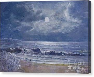 Moonglow Canvas Print by Joan Cornish Willies